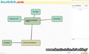 Screenshot Online Mind Mapping Tool Bubble.us