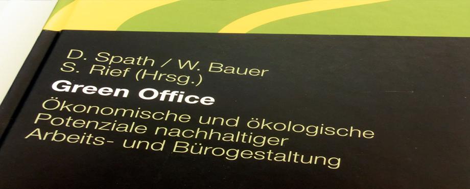 Nahaufnahme Buchcover Green Office - Ökonomische und Ökologische Potentiale nachhaltiger Arbeits- und Bürogestaltung