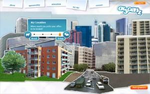 Auswahl einer städtischen Arbeitsumgebung in Oxygenz